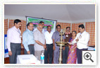 Shri BG Manjunath, Divisional Manager, Canara Bank, Trichy (lighting the lamp inaugurating the Training Programme on the topic
